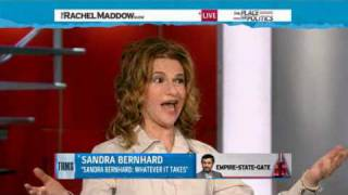 Actress and singer Sandra Bernhard Rachel Maddow