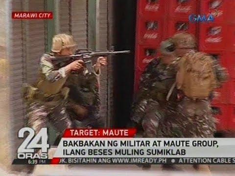 24 Oras: Bakbakan ng militar at Maute group, ilang beses muling sumiklab