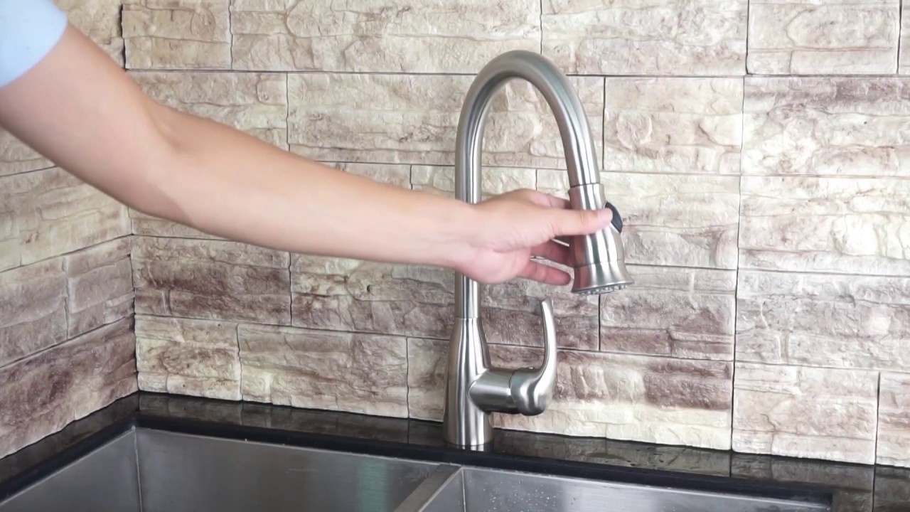 upc pull out kitchen faucet installation k766qy1 luxuryhome