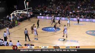 NZ Breakers vs Melbourne Utd. NBL Highlights (Round 7 2014-15)