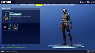 fortnite glitched hair royal knight outfit
