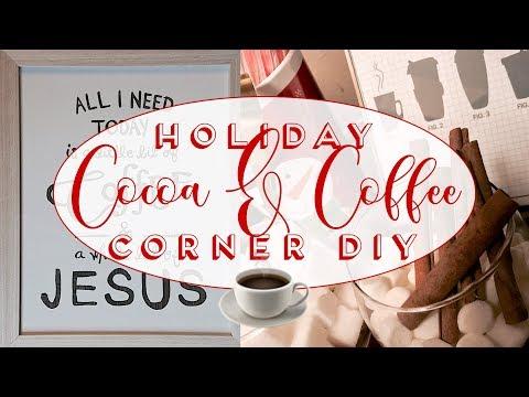 Vlogmas Day 6: Beverage Bar Basics | Hot Cocoa, Coffee, Tea Station DIY | Albie Knows 🖤 ✨