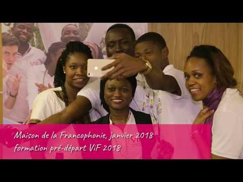 La promo 2018 des volontaires de la Francophonie