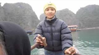 Halong Bay Basket Boat Ride in Vietnam