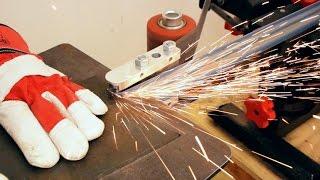 Innenradien- Schleifvorrichtung für Bandschleifer selber bauen | Messermacher Bandschleifer