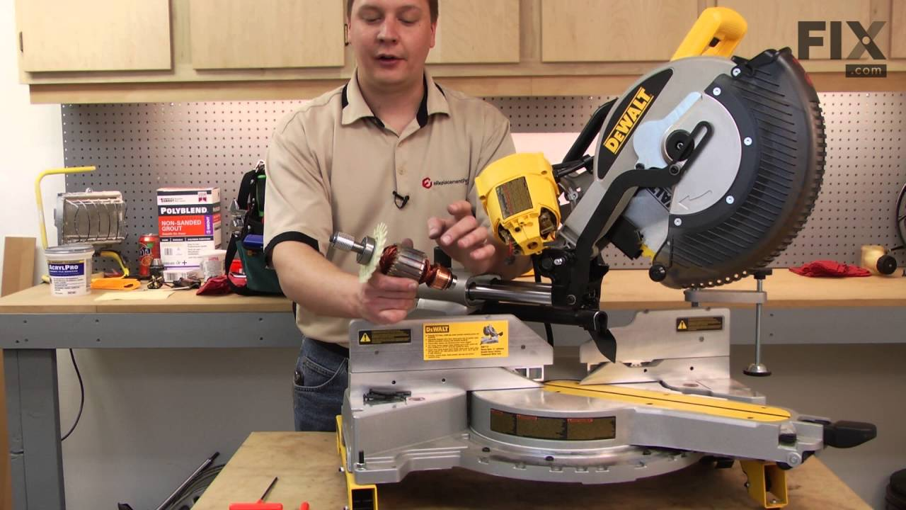 DeWALT Miter Saw Repair – How to replace the Armature and Fan