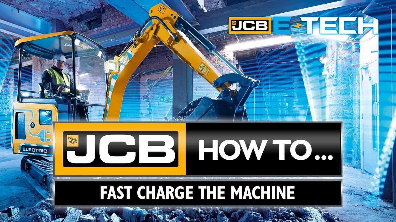 How to fast charge the JCB 19C-1E electric mini excavator