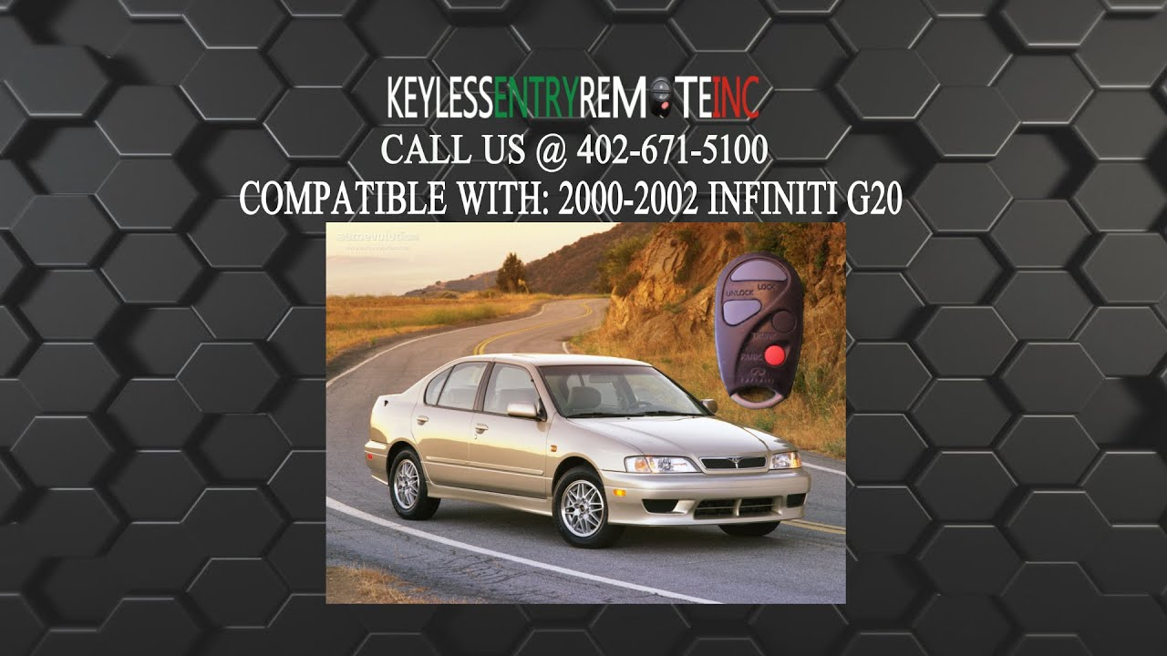 How To Replace Infiniti G20 Key Fob Battery 2000 2001 2002
