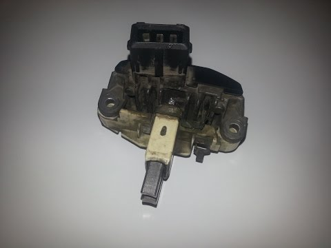 Замена щеток генеретора BMW E39 Replacement brushes generator BMW E39
