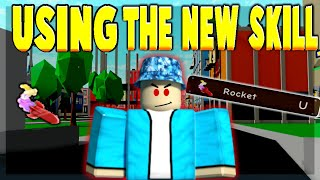 USING THE *NEW* SKILL THE ROCKET ON SUPERVILLAINS | (ROBLOX POWER SIMULATOR)
