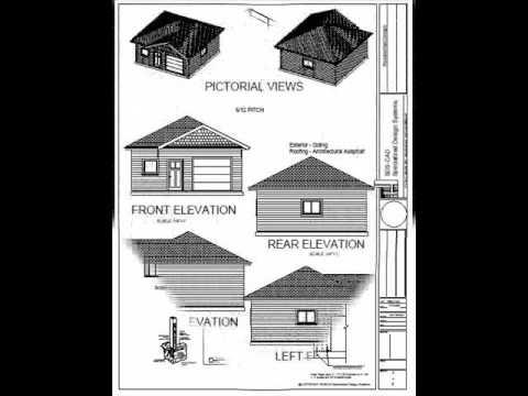 24 x 24 garage plan youtube for 24 x 24 garage plans