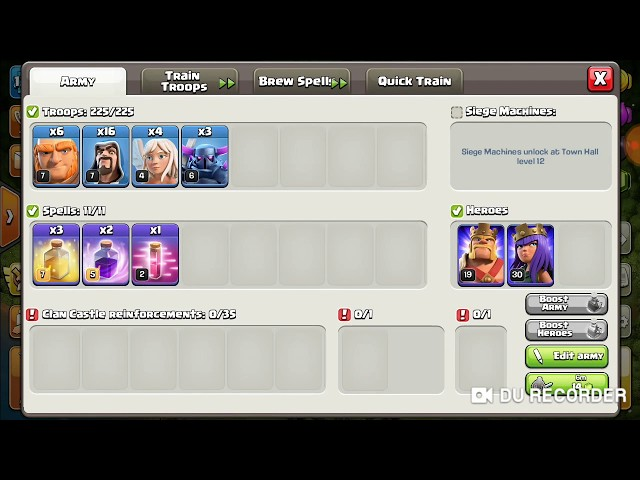 The best attack of 3 pikka,4 hiller, 16 wizz and 6 giant #Clash#of#Clan