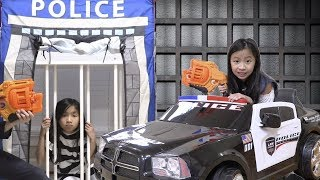 Pretend Play Police VS McDonalds Drive Thru Workers