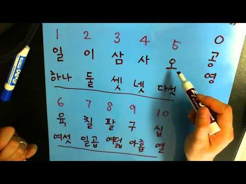 How to say numbers in Korean by Rinji