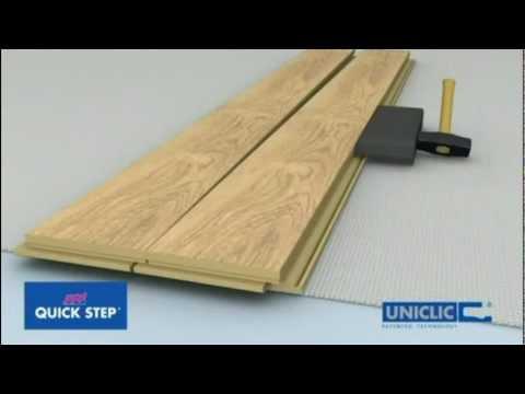 OnFlooring Quick-Step Uniclic Laminate Flooring - Floating Floor Installation.