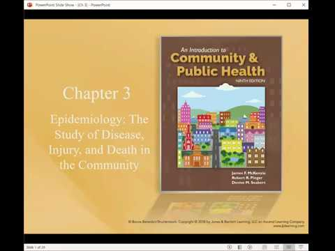 Download Community Health - Chapter 3, Epidemiology: The Study of Disease, Injury, and Death in the Community