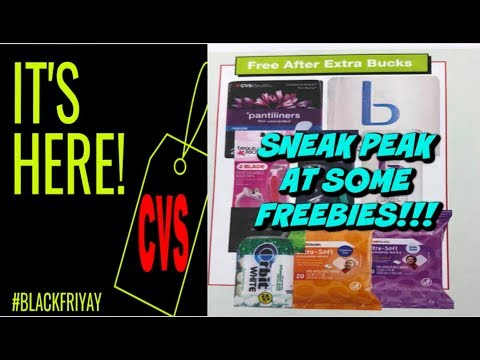 CVS SNEAK PEAK | BLACK FRIDAY FREEBIES!!