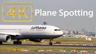 4K Airplane Spotting | Frankfurt Airport (Ultra HD)