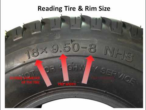 Lawnmower tires - How to read the numbers on the sidewall of