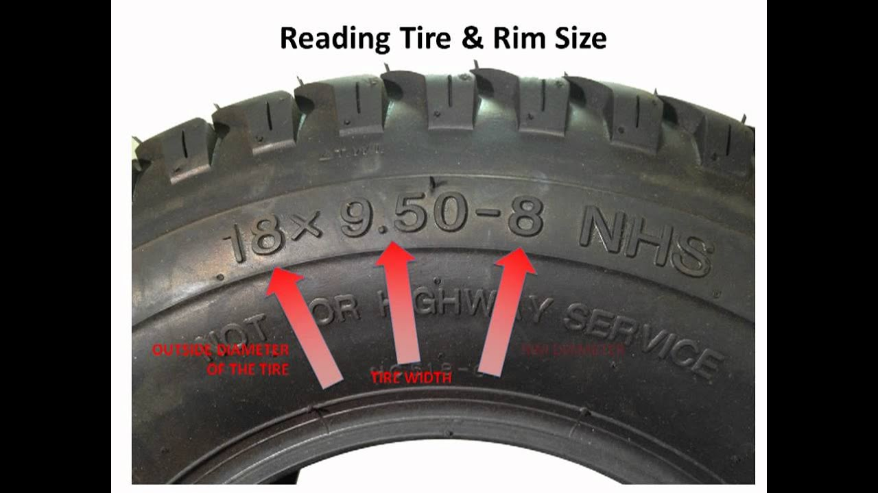 Lawnmower Tires How To Read The Numbers On The Sidewall Of A Lawn