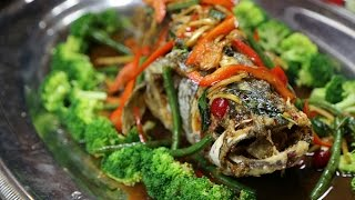 Largemouth Bass Deep Fried With Thai Sauce