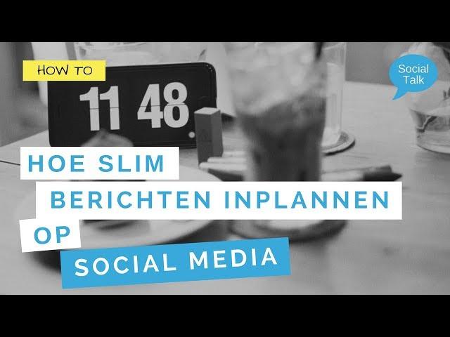 4 gratis tools om je social media berichten in te plannen