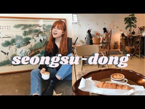 Exploring A Trendy Neighborhood in Seoul  Life in Korea Vlog Seongsudong