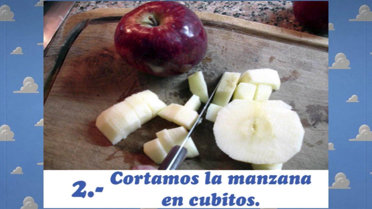 Compota de manzana natural para bebe