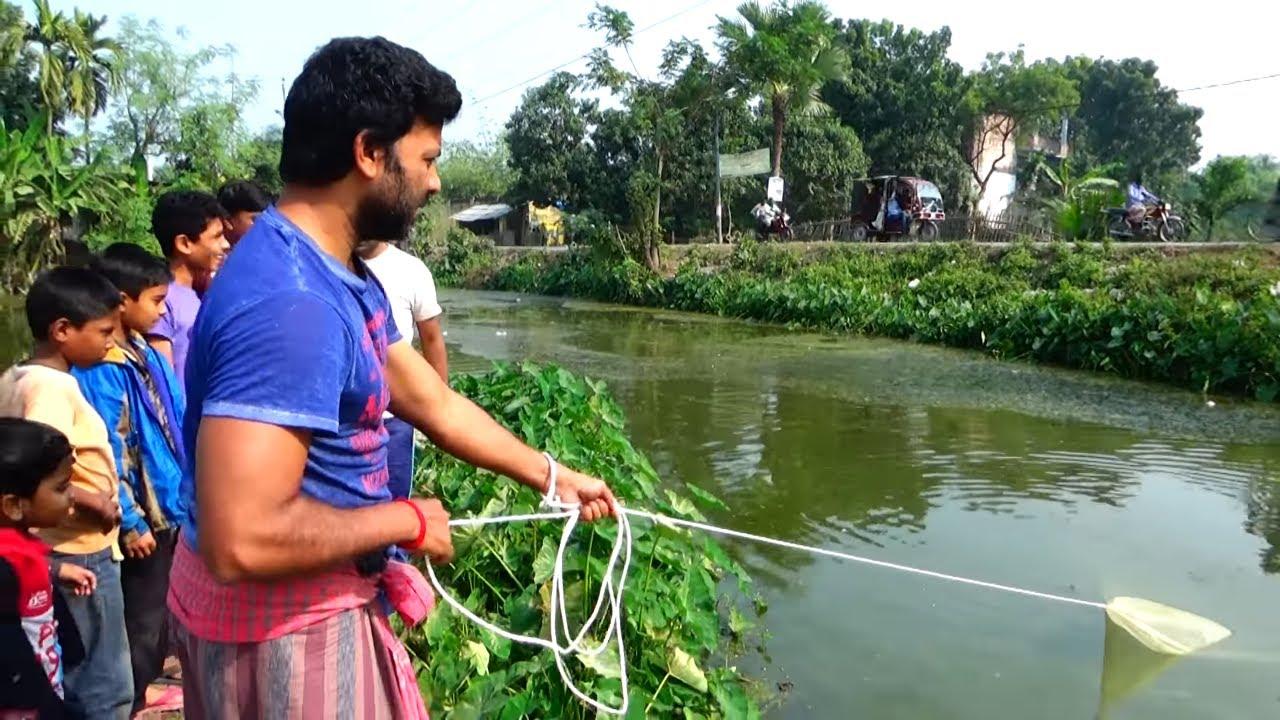 Best Cast Net Fishing Videos In Village Pond ( Part 4 )