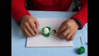 Play Dough Creations: Make Vegetable & Fruits -- Cauliflower Leaves Craft