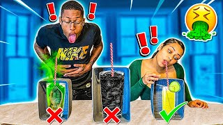 DON'T DRINK THE WRONG MYSTERY DRINK CHALLENGE!