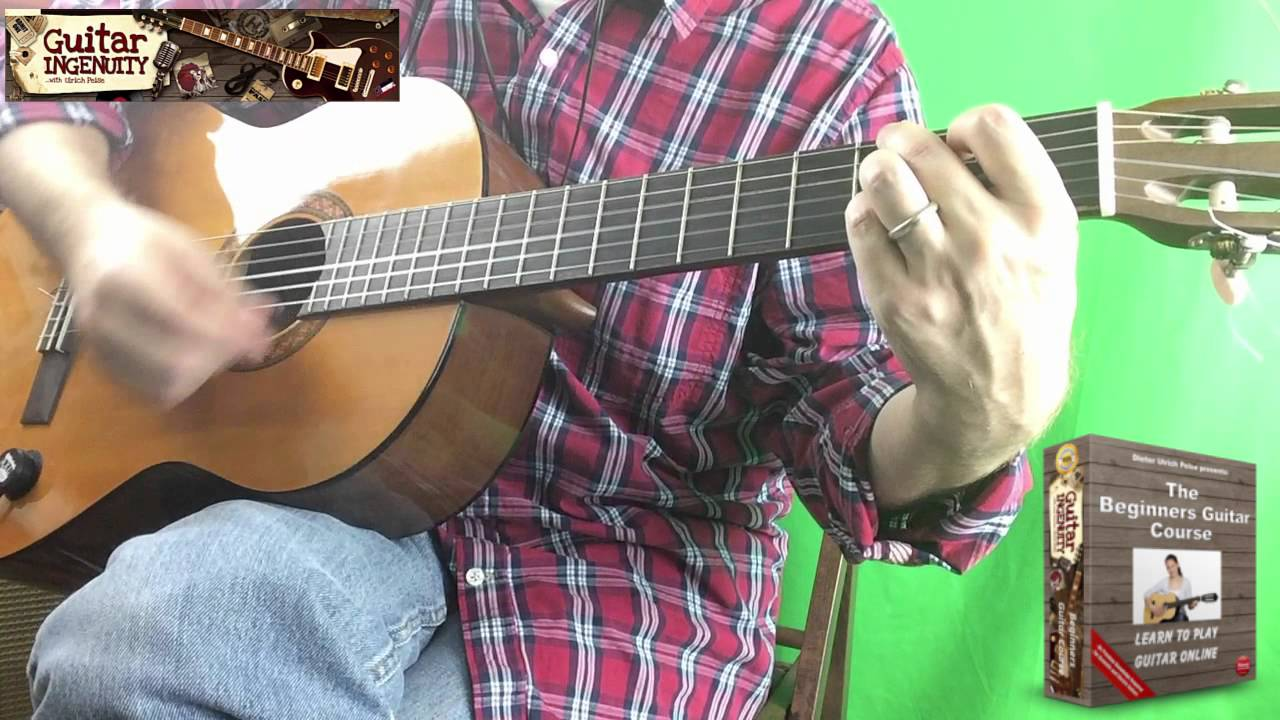How To Play Oh Christmas Tree On Guitar - Oh Christmas Tree Guitar ...