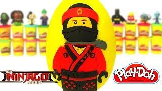 Ovo Surpresa Gigante do Kai de Lego Ninjago O Filme em Português Brasil de Massinha Play Doh