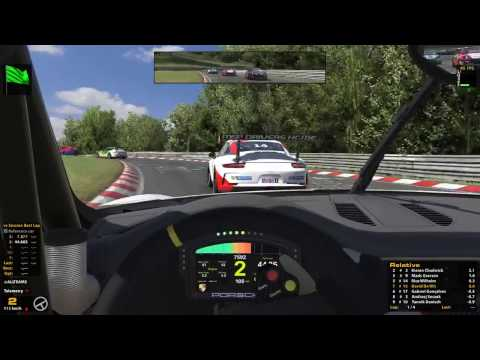 iRacing - Live - Porsche  Cup - Nurburgring - on board with David De Wit
