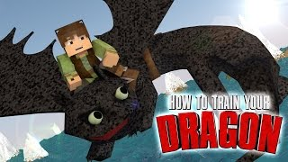 "Minecraft | How To Train Your Dragon Ep 10! ""WATER DRAGON SURFING"""