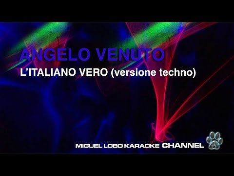 ANGELO VENUTO - L'ITALIANO - Karaoke Channel Miguel Lobo