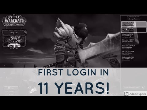 Logging into my Old World Of Warcraft Account after 11 Years