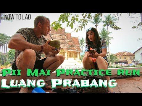 Travel Laos: Luang Prabang Pii Mai Morning practice run - Lao New Year 2018 -Now to Lao Travel Vlog