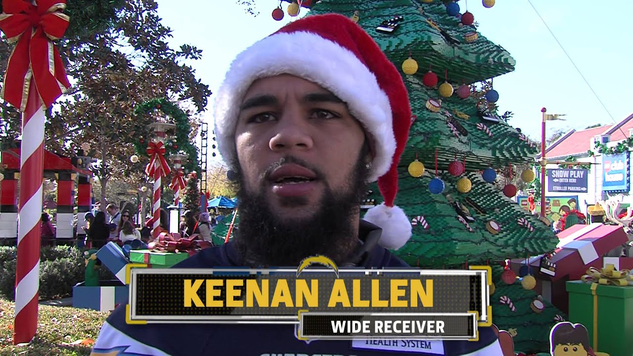 Keenan Allen Gives Back At Legoland San Diego Chargers