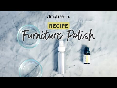 DIY All-Natural Furniture Polish with Lemon Essential Oil