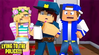 Little Leah IS CAUGHT LYING TO THE POLICE... Minecraft