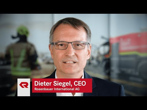 """Everything for that moment."" – CEO Dieter Siegel on Rosenbauer's guiding principle"