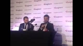 تامر حسنى: أغنياتى مع نجوم عالميين أكسبتنى شهرة كبيرة.. فيديو