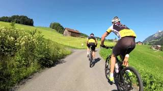 Cycling up the Swiss alps 10/7/2015