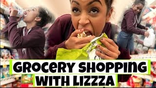 STEALING FOOD?! GROCERY SHOPPING WITH LIZZZA | Lizzza