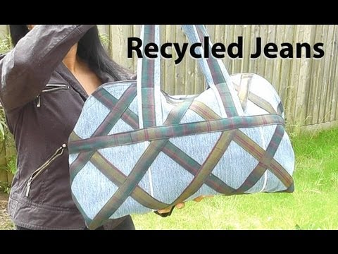 Country Designer Bag / Recycled jeans / DIY Bag Vol 5