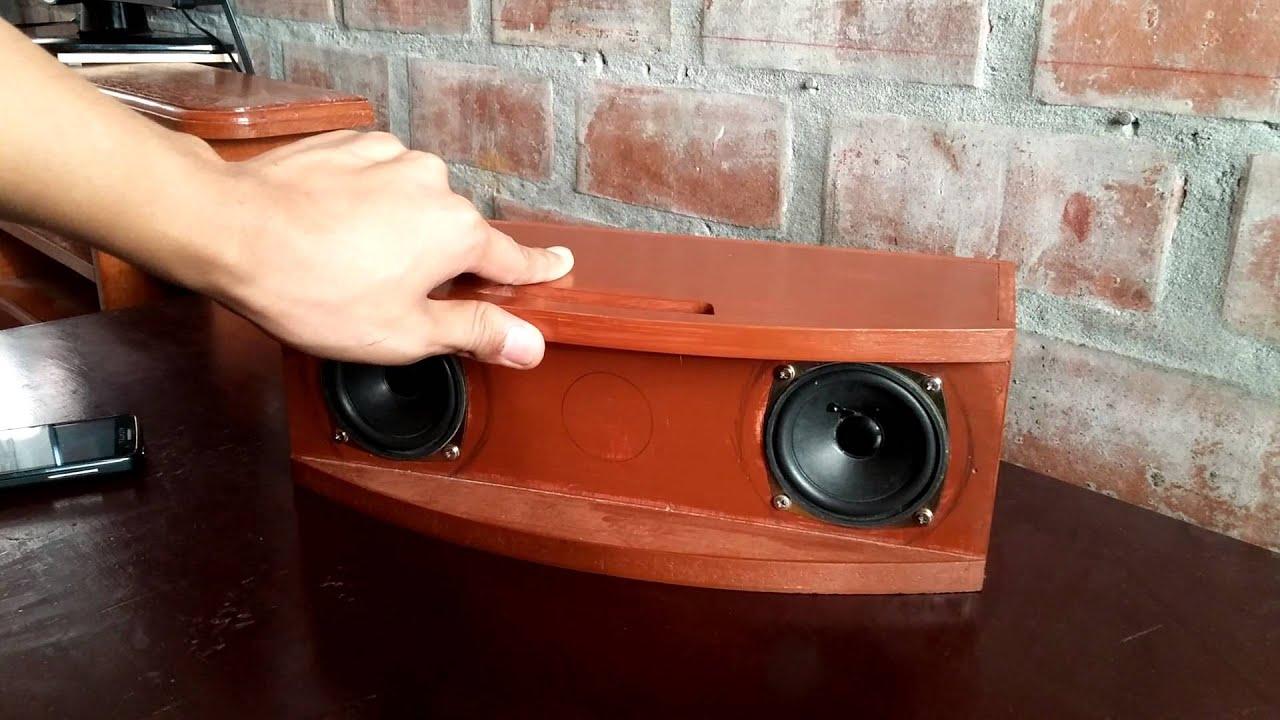 Parlante altavoz casero de madera youtube for Bar casero de madera