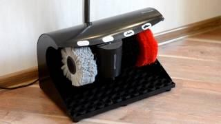 видео машинки для чистки обуви