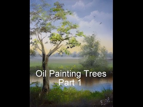 Tutorial Trees oil paint Part 1 real-time, Dutch artist Eline Ulaen