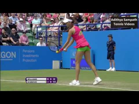 Williams vs Ivanovic Eastbourne 2011 Highlights